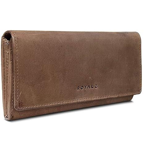 ROYALZ Billetera de Mujer en Piel con protección RFID ...