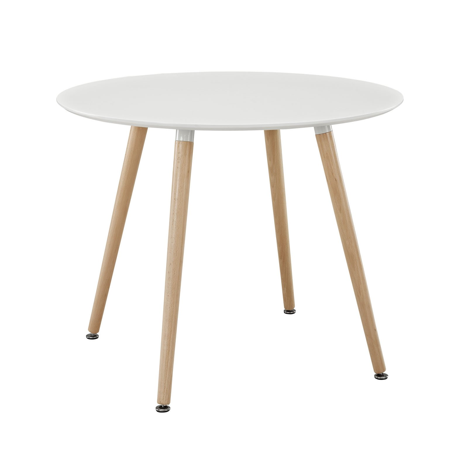 Modway Track Circular Dining Table in White by Modway (Image #1)