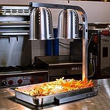 Avantco Commercial Portable W62 Heat Lamp Food Warmer 2-Bulb Free-Standing