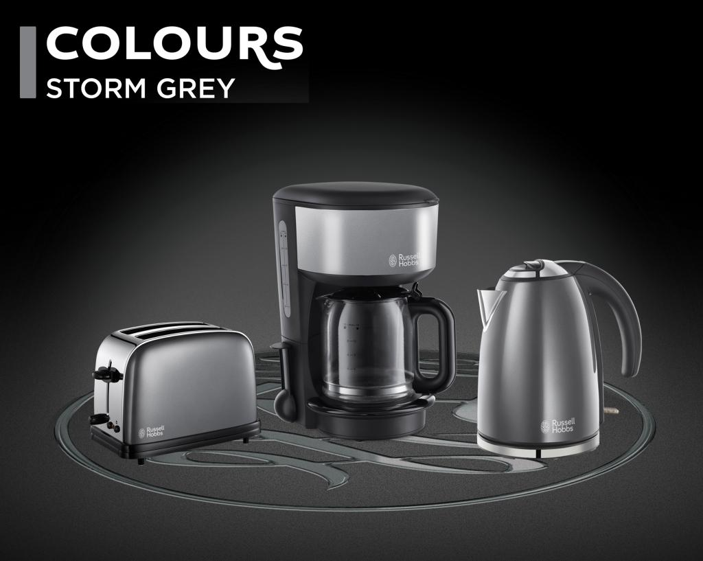 russell hobbs 20132 56 glas kaffeemaschine colours plus storm grey. Black Bedroom Furniture Sets. Home Design Ideas