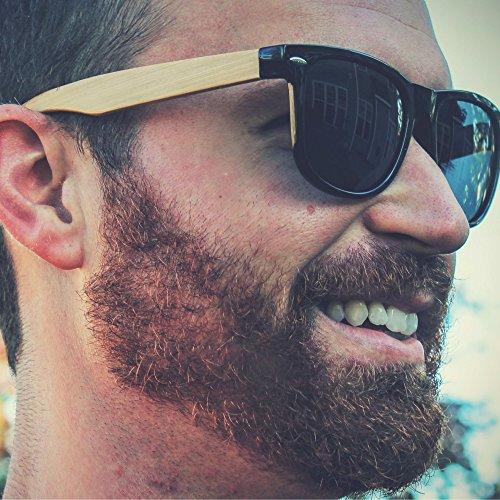 Eye Love - Gafas de sol - para hombre multicolor Shiny Black With Bamboo Temples: Amazon.es: Ropa y accesorios