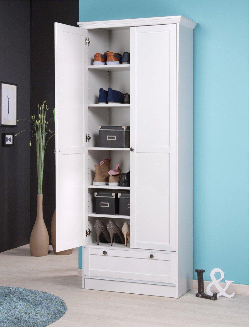 Garderobenset Landström 148 weiß Sideboard Spiegel Schuhschrank ...