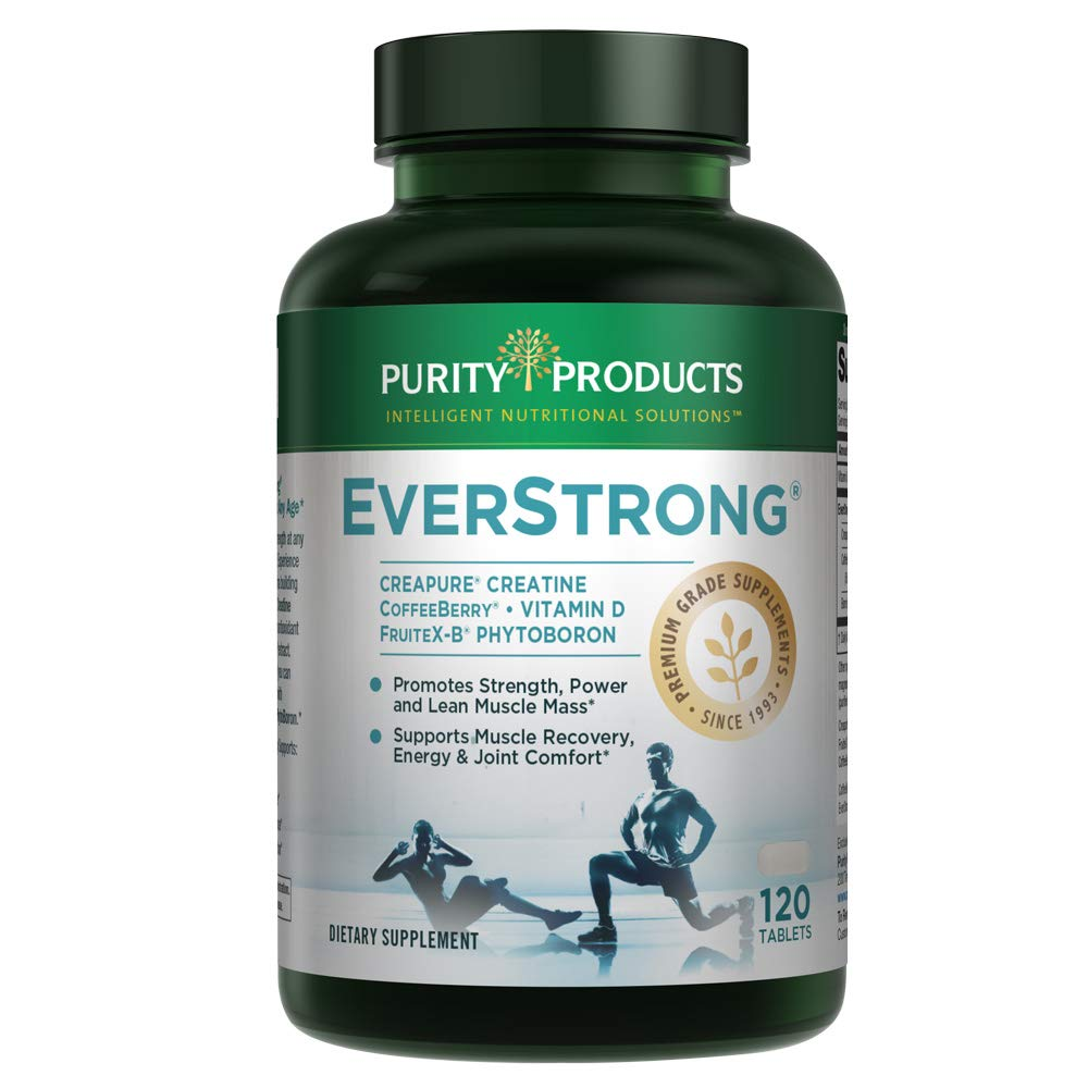 EverStrong - Muscle Matrix Blend - Creapure Creatine - Boron (FruiteX-B PhytoBoron) - CoffeeBerry Extract - Boosted with 1000 IU Vitamin D - 120 Tablets from Purity Products by Purity Products
