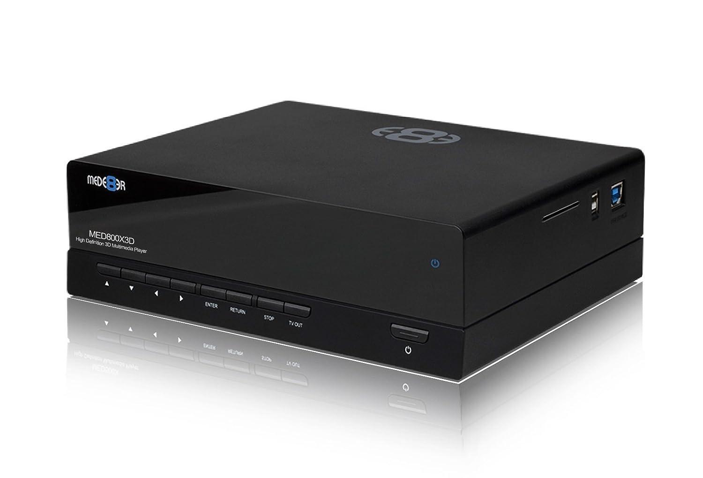Mede8er MED800X3D//WP color negro 3D, 1080p, HDMI, LAN, WiFi Reproductor multimedia