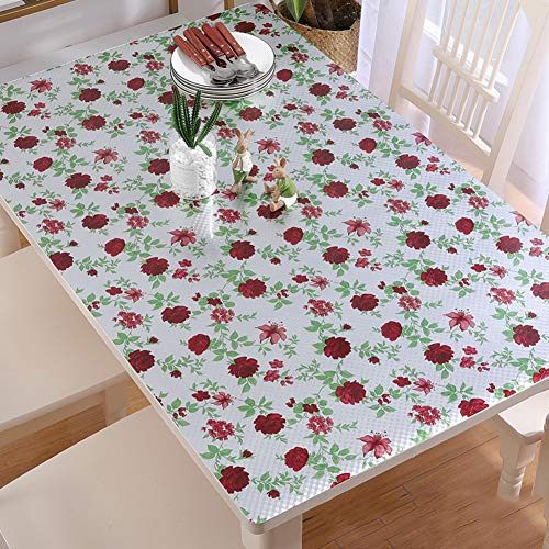 Waterproof PVC Table cover protector Pad Plastic Tablecloths for dining table Desk Lab bench Marble top Table mat protector-K 70x70cm(28x28inch)