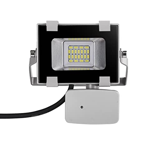Viugreum 10W LED Motion Sensor Floodlight, Waterproof IP65, 1200LM, Daylight White(6000