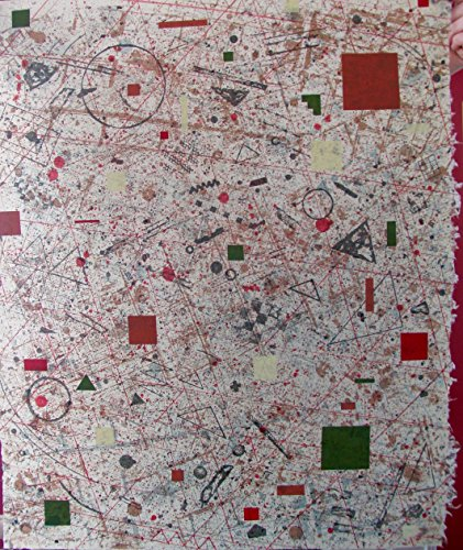 David Shapiro 1978 -Title: 7 Centers P.P. 4/6 Hand made Twin Rocker Paper Size 29 x 24