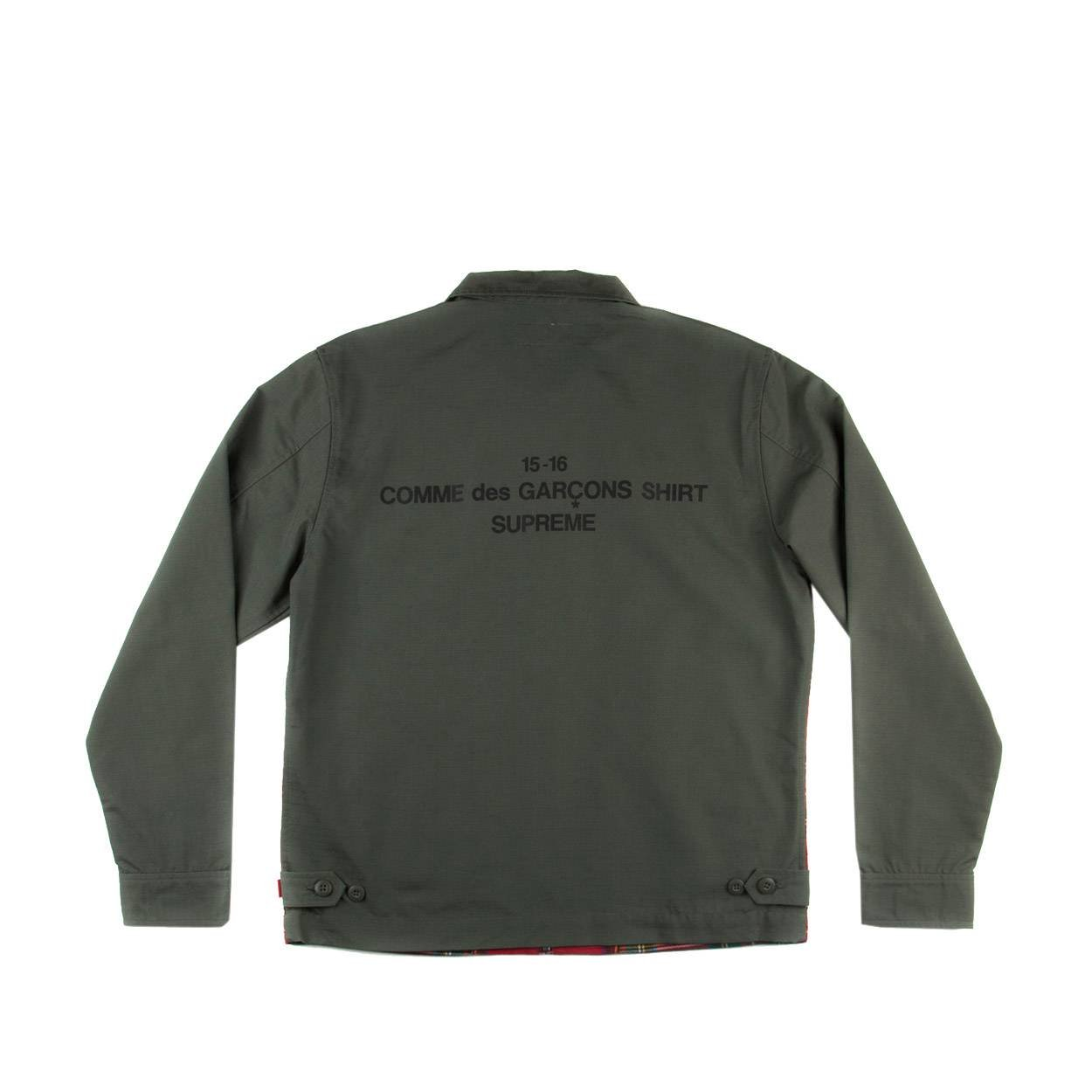 e8b1d3abc82b Supreme Mens Comme Des Garcons CDG Plaid Work Jacket Red/Olive Green Size  M: Amazon.ca: Clothing & Accessories