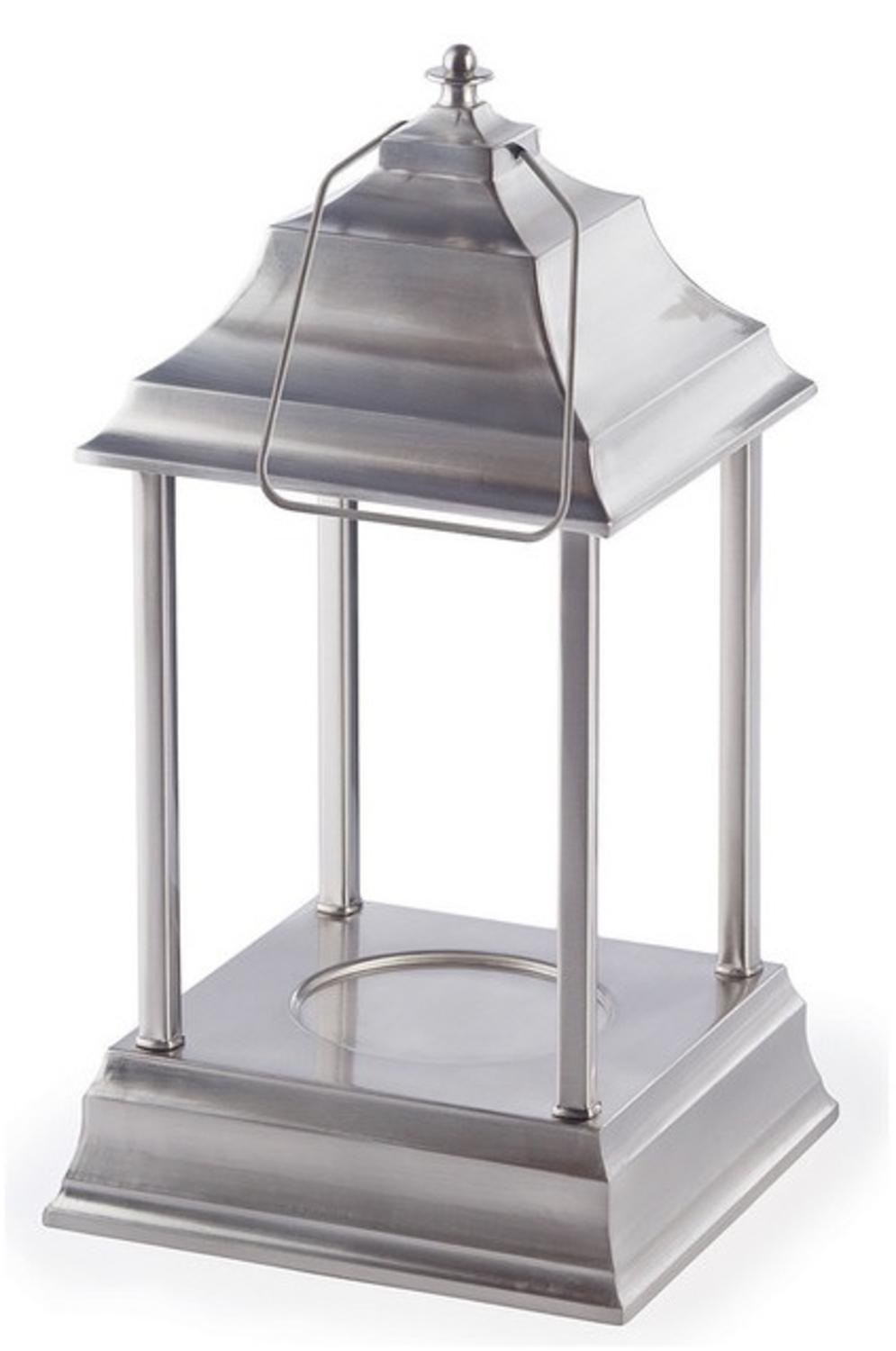 CC Home Furnishings 13'' Decorative Brushed Nickel Traditional Colonial Style Bellaroma Carriage Candle Warmer Lantern