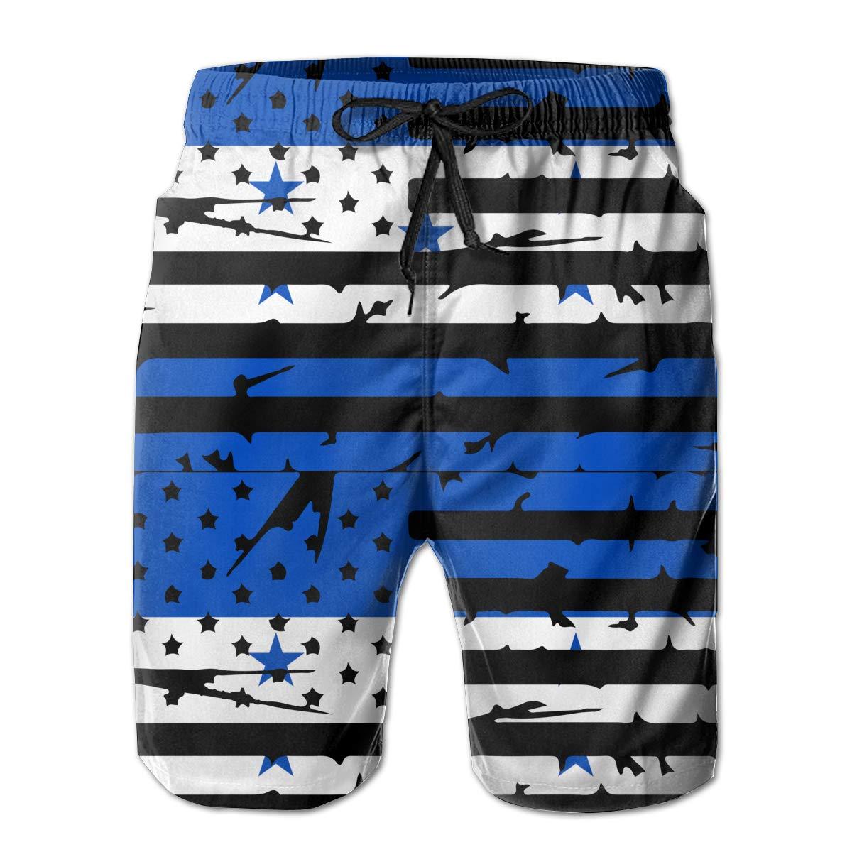 STDKNSK9 Mens Honduras American Flag Boardshorts Beach Pants