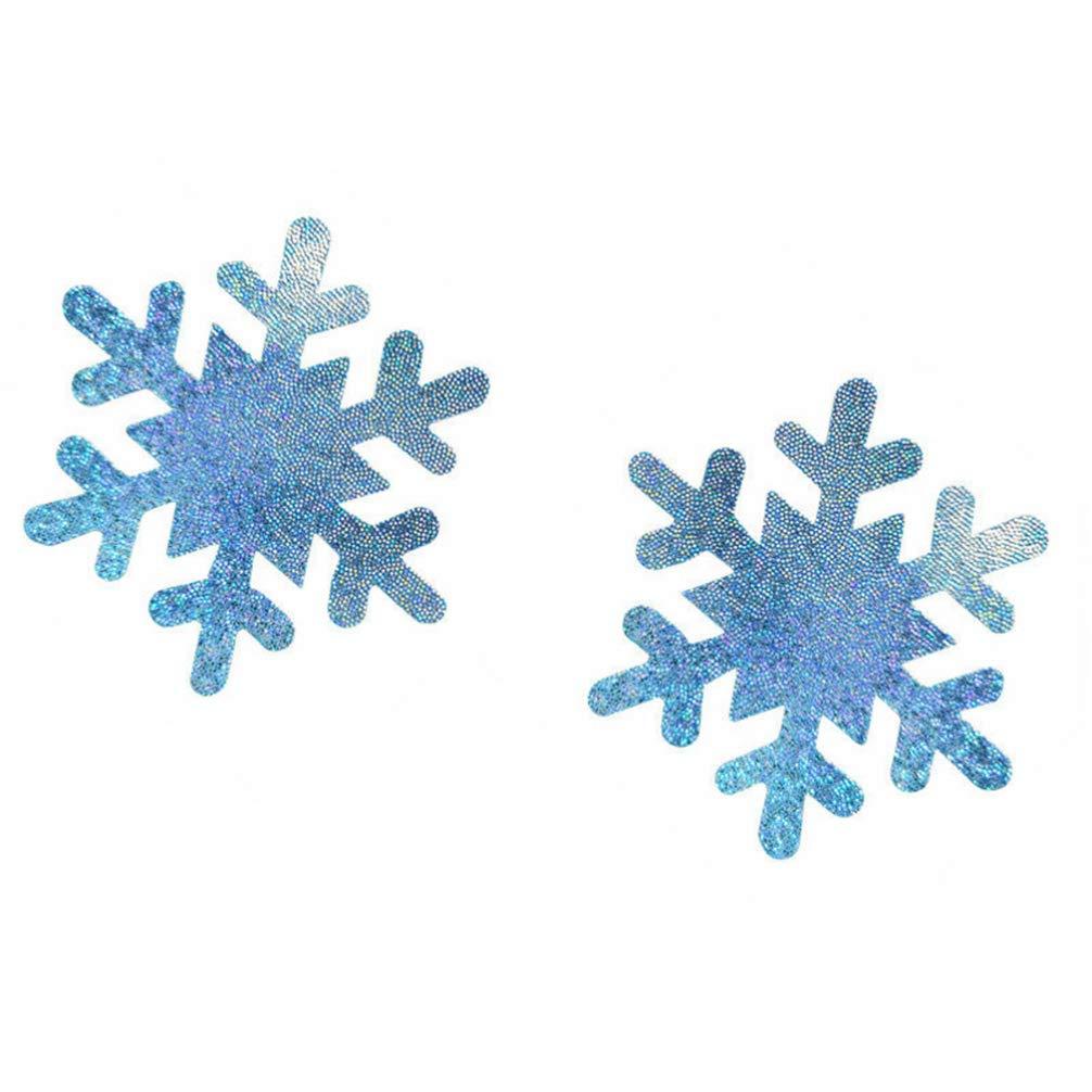 Fenical Brustaufkleber 10 Paar Schneeflockennippelh/üllen Weihnachten Schneeflockenbrustpasteten f/ür Damen Damen M/ädchen himmelblau