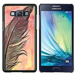 Eason Shop / Premium SLIM PC / Aliminium Casa Carcasa Funda Case Bandera Cover - Cuervo Negro naturaleza de la acuarela - For Samsung Galaxy A5 ( A5000 ) 2014 Version