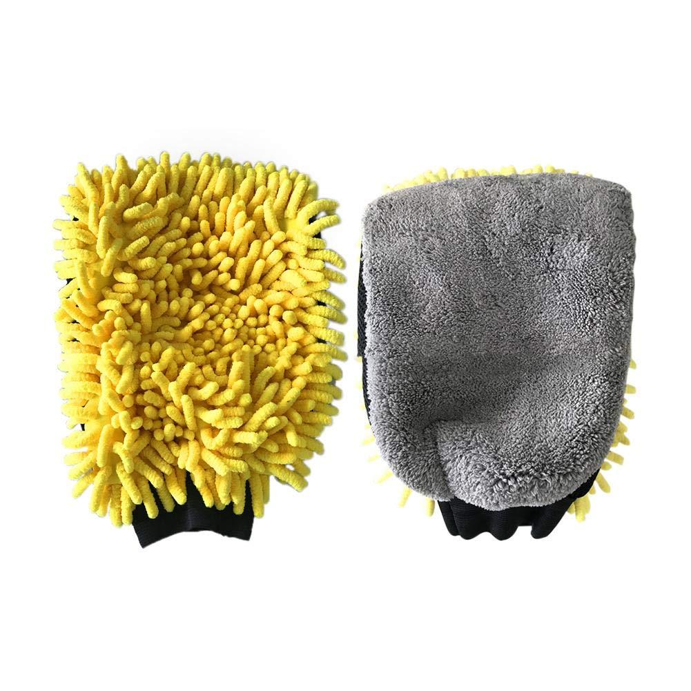 sweetlife Gant Microfibre de Lavage Voiture Absorption Forte Multifonction Outils de Nettoyage pour Nettoyer l' inté rieur et Le Pare-Brise Auto Carrosserie Maison (1pc)