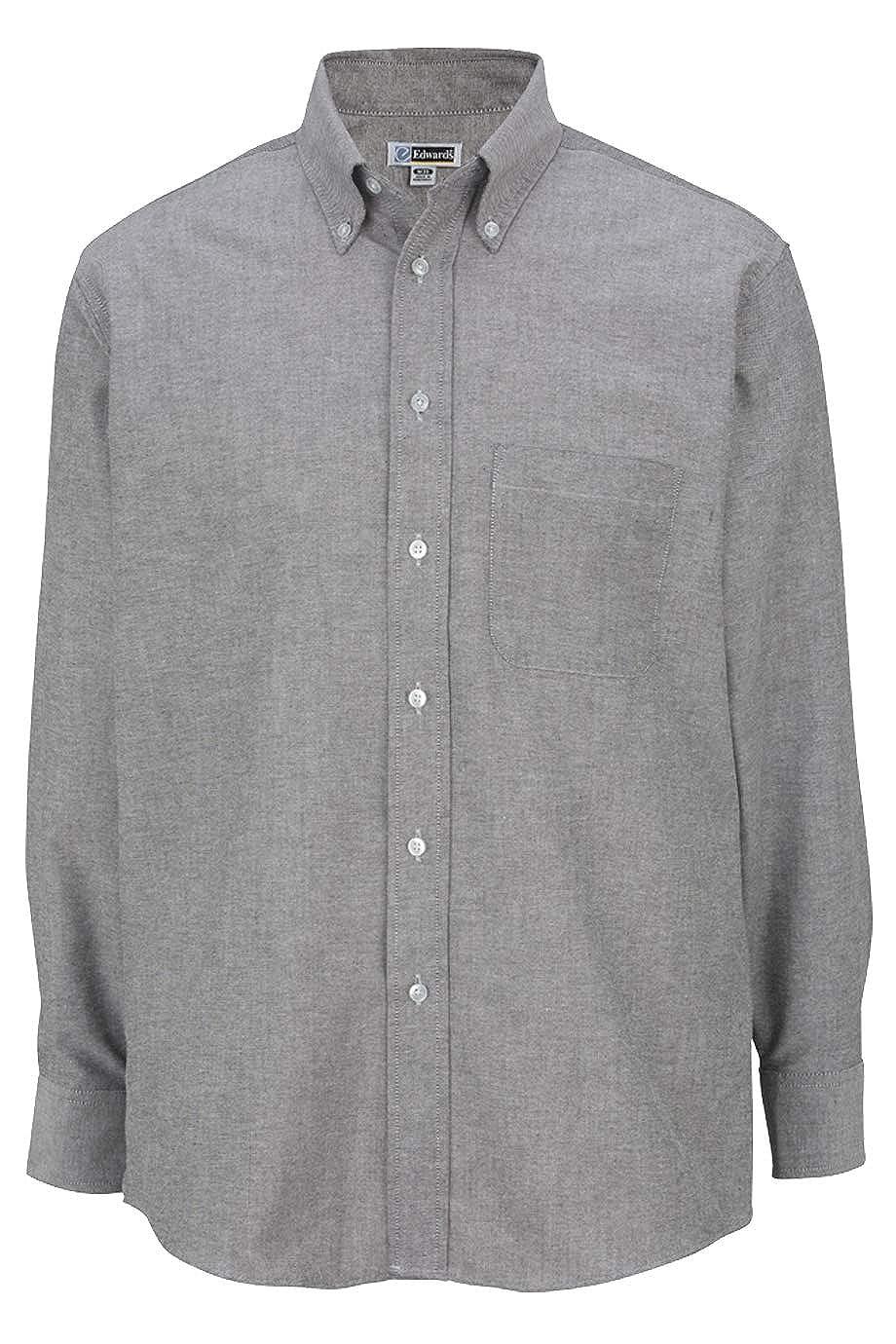 Edwards Mens Long Sleeve Oxford Shirt