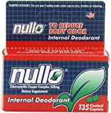 Nullo Internal Deodorant, Coated Caplets, 135 Caplets