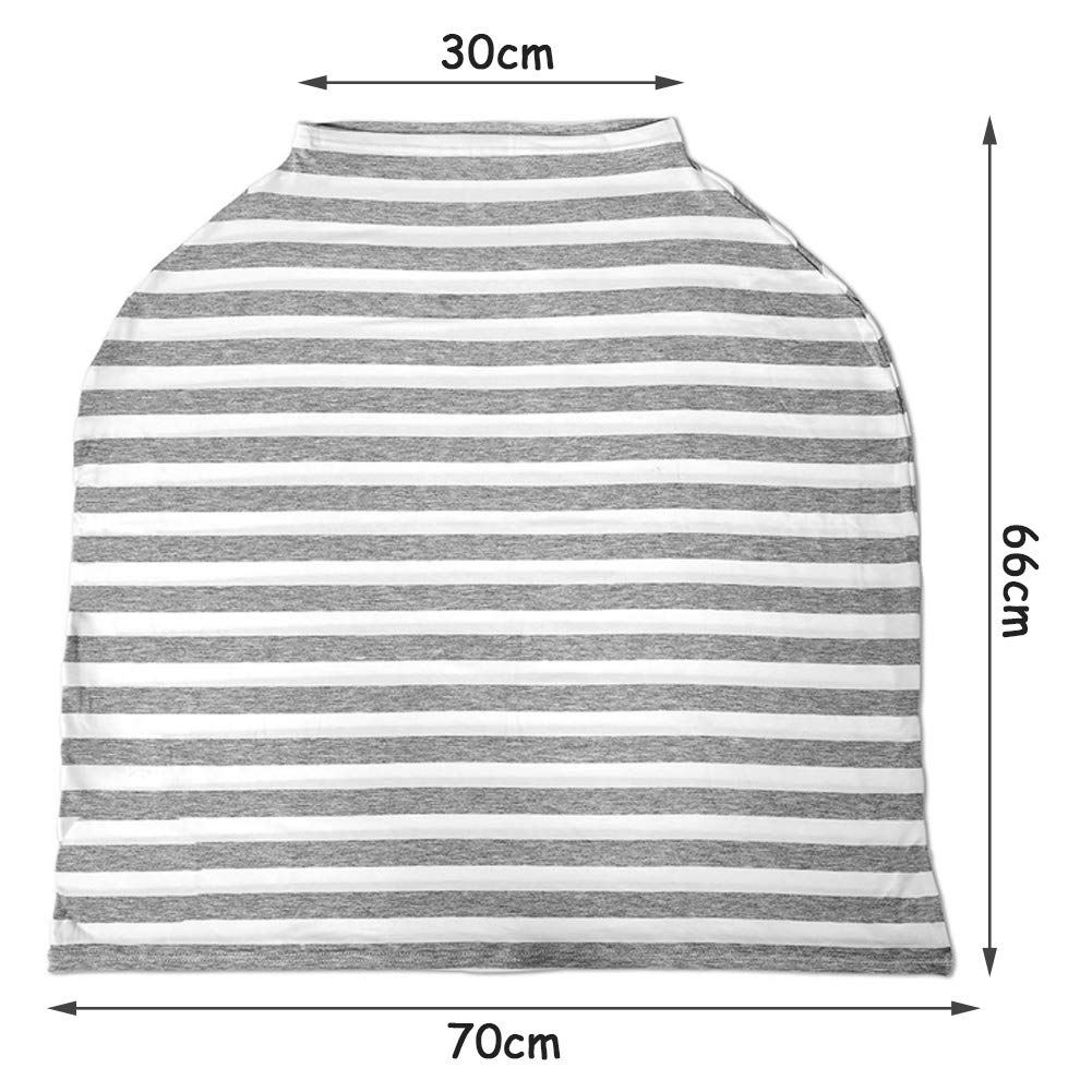 Stillschal Nursing Cover Atmungsaktive Warenkorb Swaddle Decke Pflegeabdeckung Stilltuch aus Weichem Baumwoll f/ür 360 Grad Volle Privatsph/äre Stillen Schutz