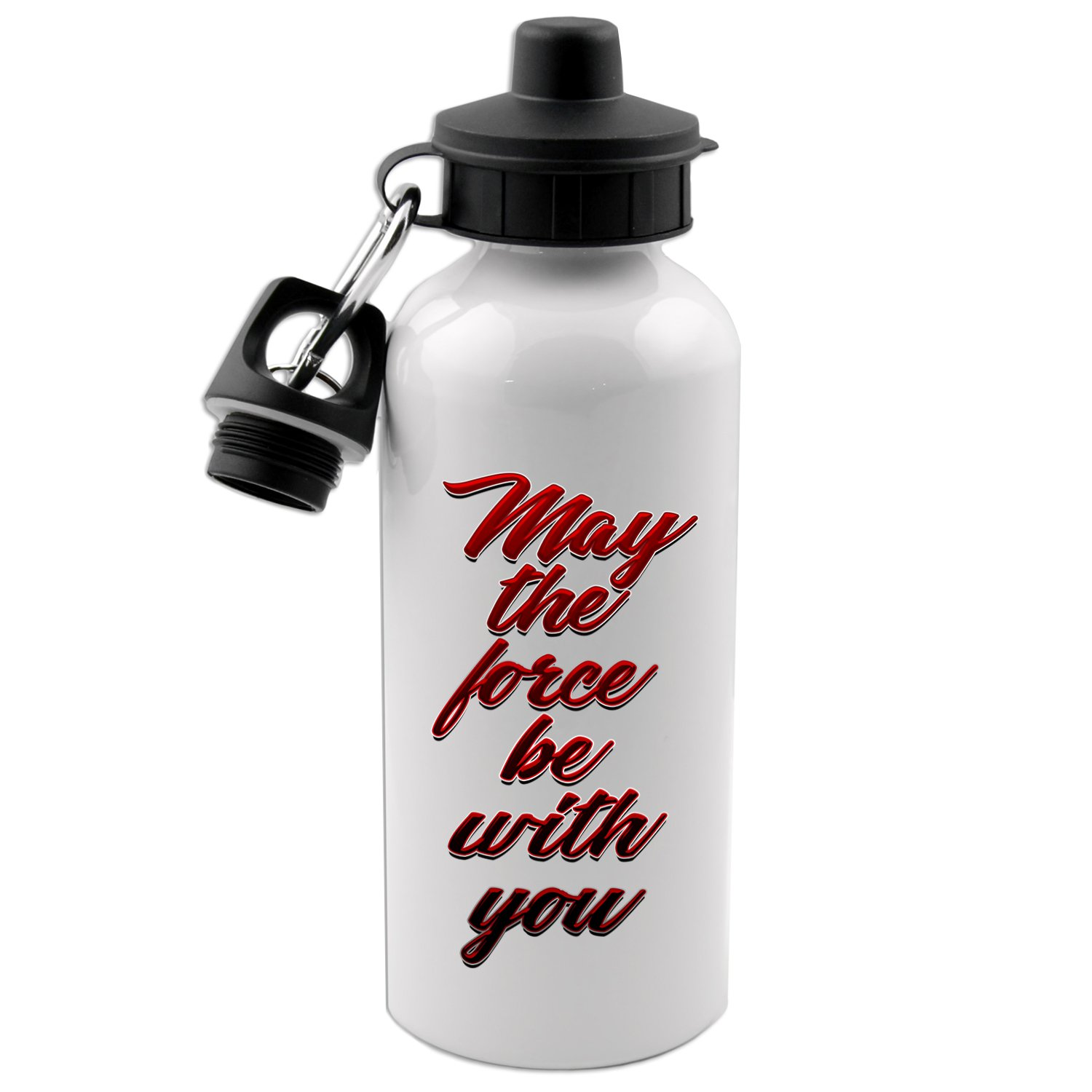 May The Force Be With You 20 Oz White Aluminum Water Bottle Decal Serpent