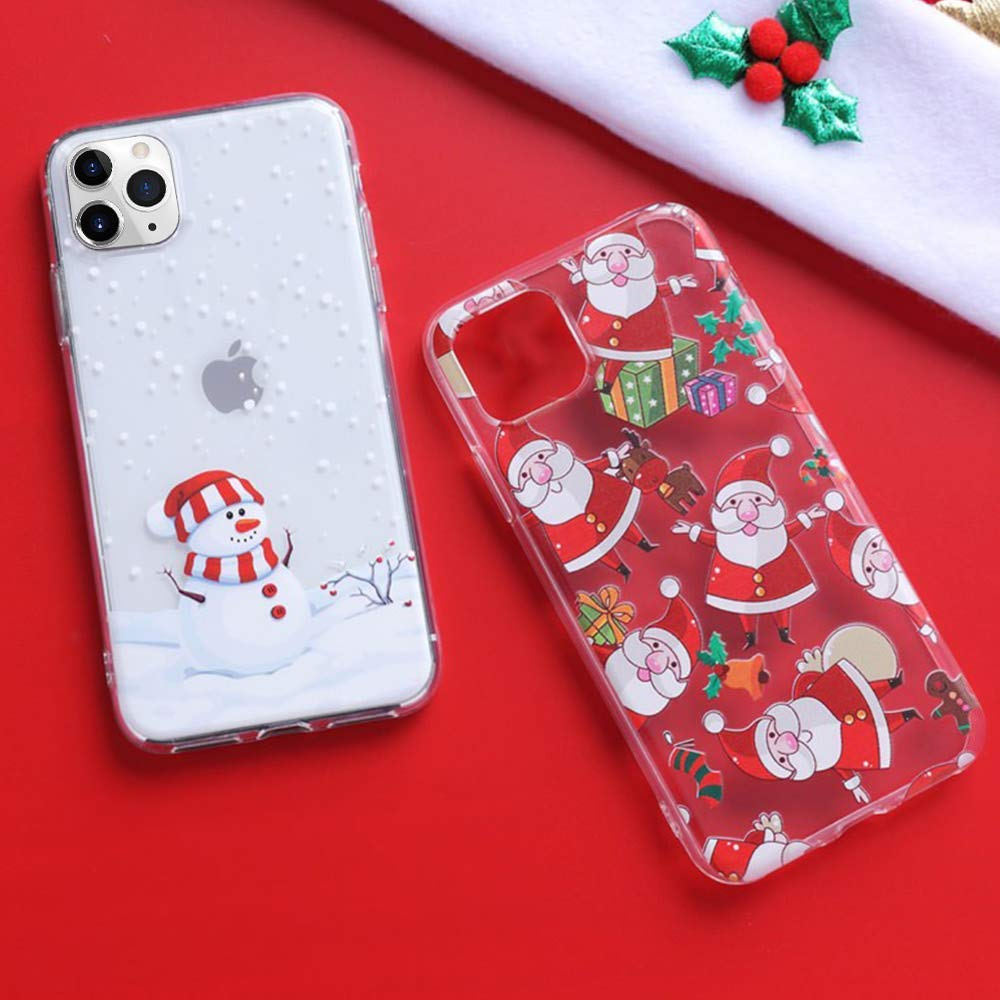 Cover 5.8 inch Christmas Soft TPU Bumper Transparent Case Shell Ultra-thin Transparent Silicone Case Bumper Case Cover LCHULLE Christmas Case for iPhone 11 Pro
