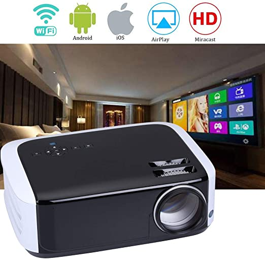 Proyector De 1080P LED, WiFi Bluetooth 3500 Lúmenes HD LCD ...