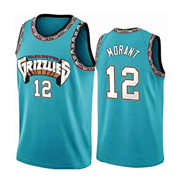 Hombres Ja Morant 12# Baloncesto Jersey, Uniforme Memphis ...