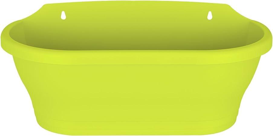 L 16.5 x W 39 x H 17.1 cm Elho Corsica Mural 39 Ext/érieur /& Balcon Planteur Lime Vert
