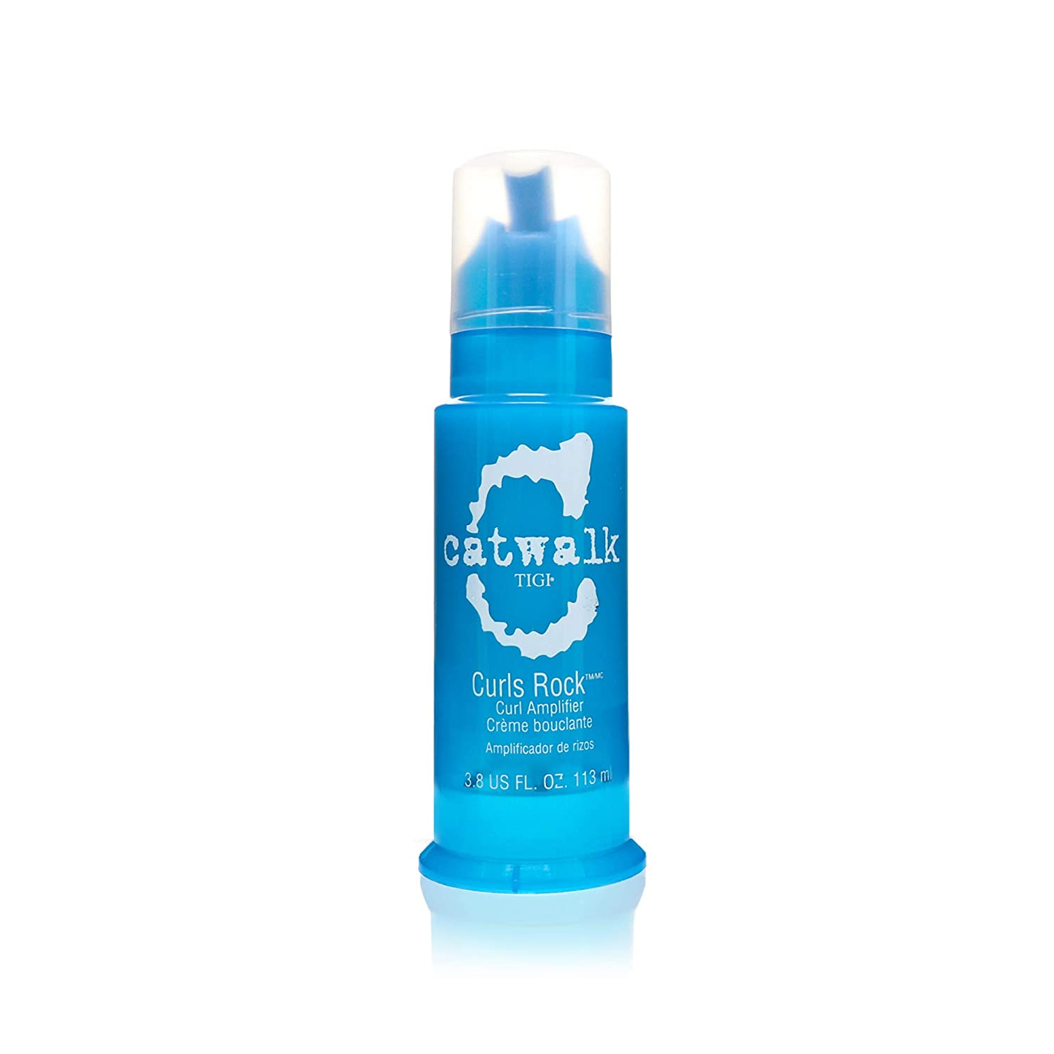 TIGI Catwalk Curls Rock Amplifier - For Defined Curls & Waves, Adds Volume & Shine, Enhances Natural Texture, Provides Hold & Control, Humidity & Heat Protection, with Essential Oils 4 oz (Pack of 1)