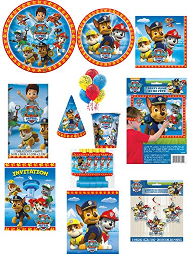 [Paw Patrol 118 Piece Ultimate Party And Decorating Kit - Complete Party In A Box] (Disney Princess Wedding Invitations)
