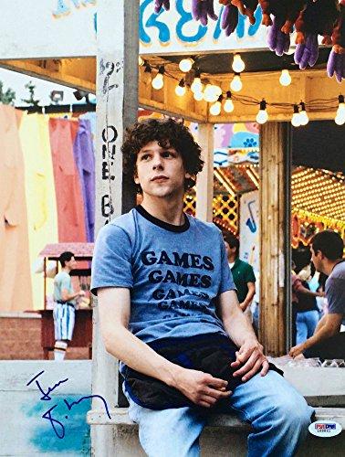 Eisenberg Signed (Jesse Eisenberg Signed Adventureland 11x14 Photo PSA/DNA - Authentic Signed Autograph)