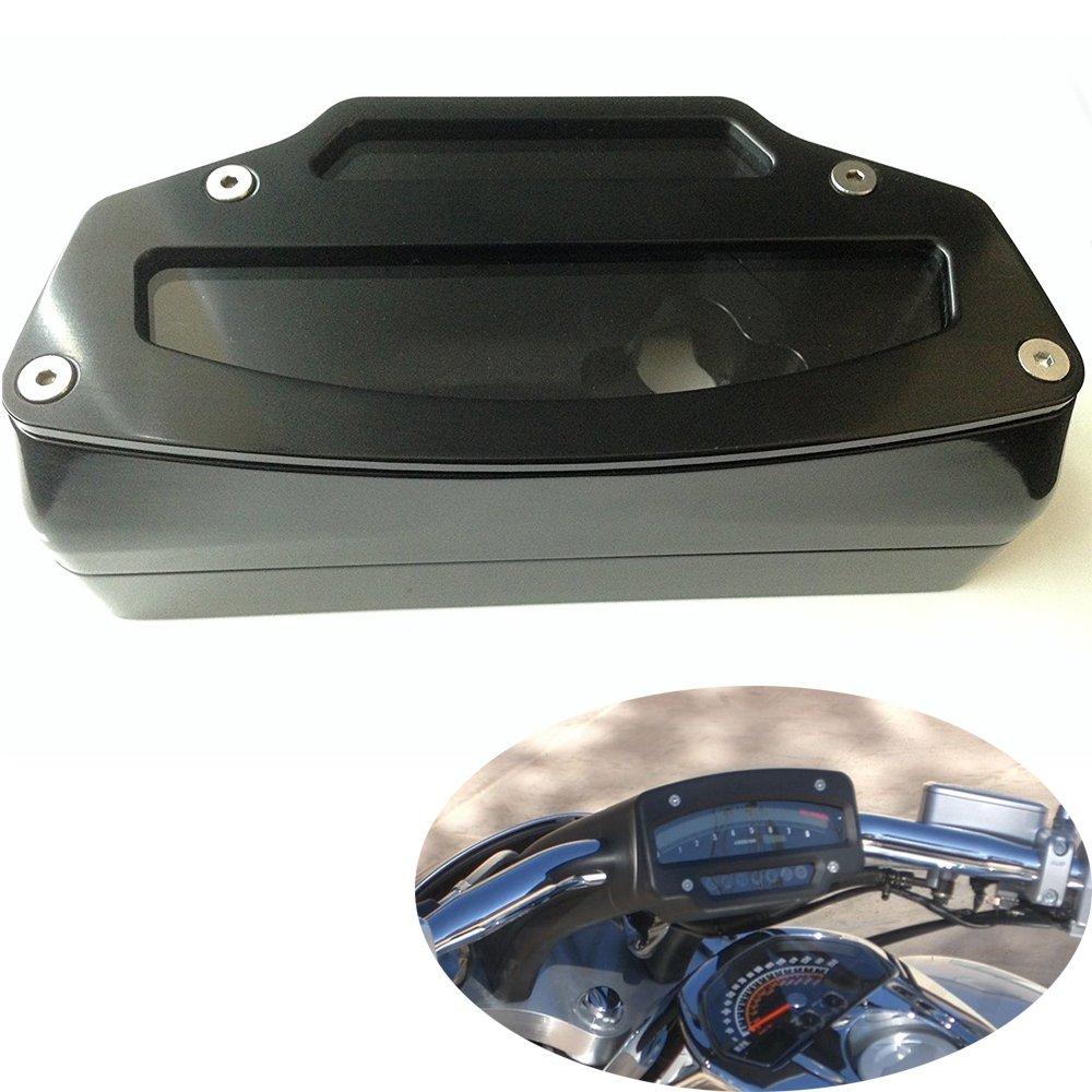 TJTECH Anodized Black CNC Machined Hard Billet Aluminum Tach Gauge Housing for Suzuki Boulevard M109 M109R 2006-2014