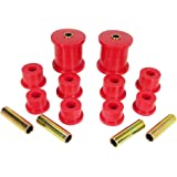 Prothane 18-1003 Red Front Spring Eye and Shackle Bushing Kit