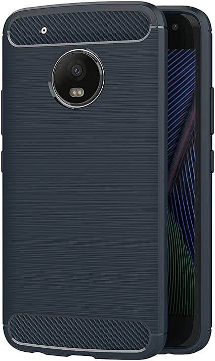 AICEK Funda Moto G5 Plus, Azul Silicona Fundas para Motorola Moto ...