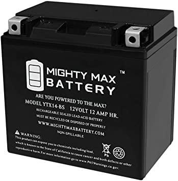 YTX14-BS Bater/ía Kawasaki KFX 700/2012/ /2014/