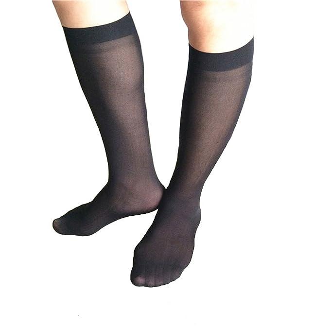 Pomcat Calcetines largos de nylon de la rodilla Sexy de los hombres