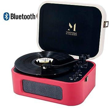 Tocadiscos con Bluetooth Diseño Retro de Estilo Maletin ...