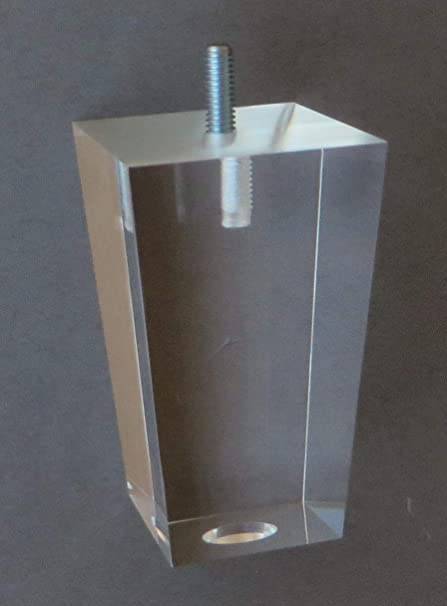Acrylic Lucite Furniture Legs 4u0026quot; 5u0026quot; Pyramid For Sofa Chair  Cabinet By Alpha Furnishings