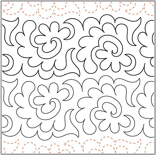 Quilting Creations Flowers and Fronds, 5 Inch Rows,UTA-1006 Urban Elementz Tear Away, 4 Pack by Quilting Creations