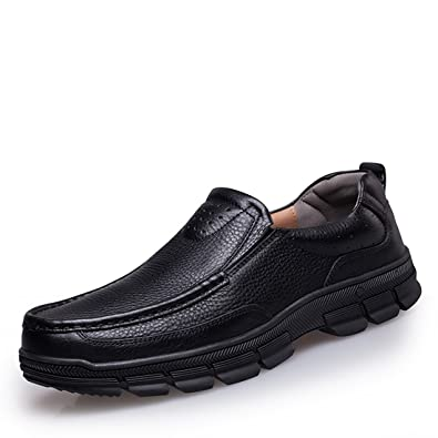 Casual Rubber Sole Work Penny Loafers Walking Shoes