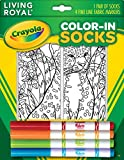 Kid's Crayola Color-In Socks - Includes 1 Pair Of Socks And 4 Fabric Markers - Leopard Design