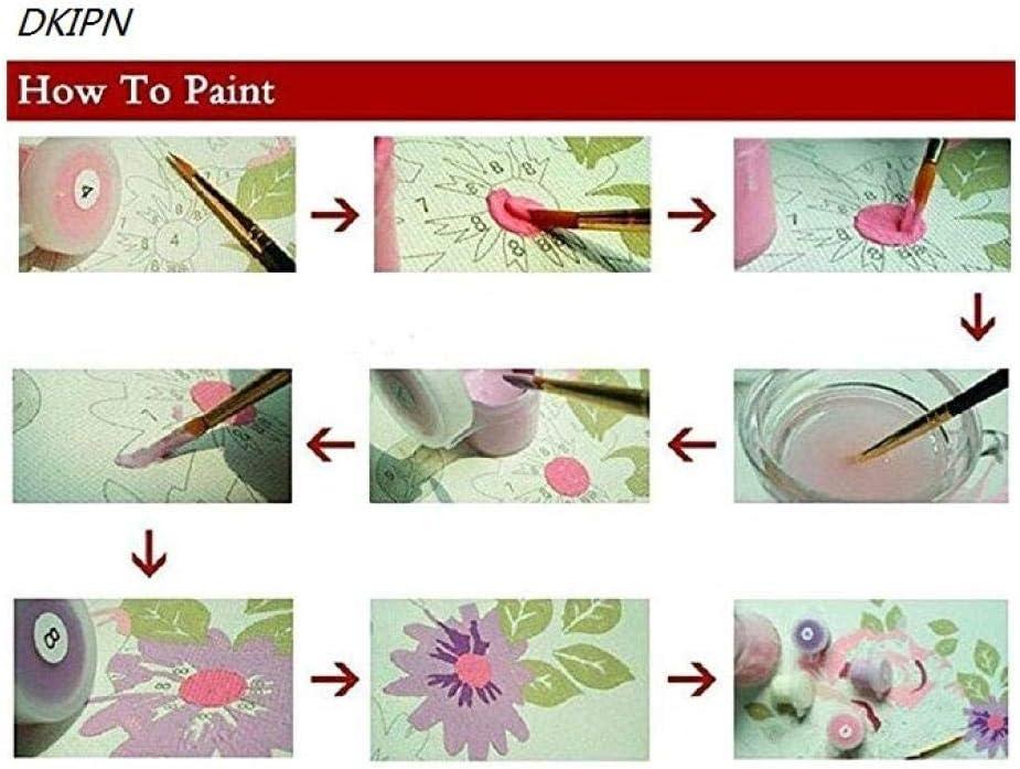 DKIPN dipingi con i Numeri Quadri Famosi 50cm (Senza Telaio) Dipinti digitali 40