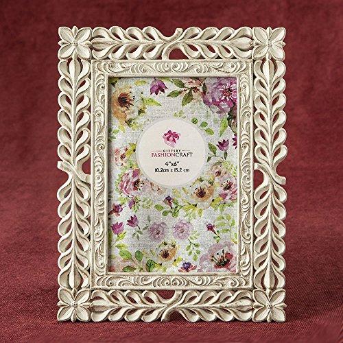 24 Elegant Ivory with Rose Gold Rub Lattice 4 x 6 Frames by Fashioncraft
