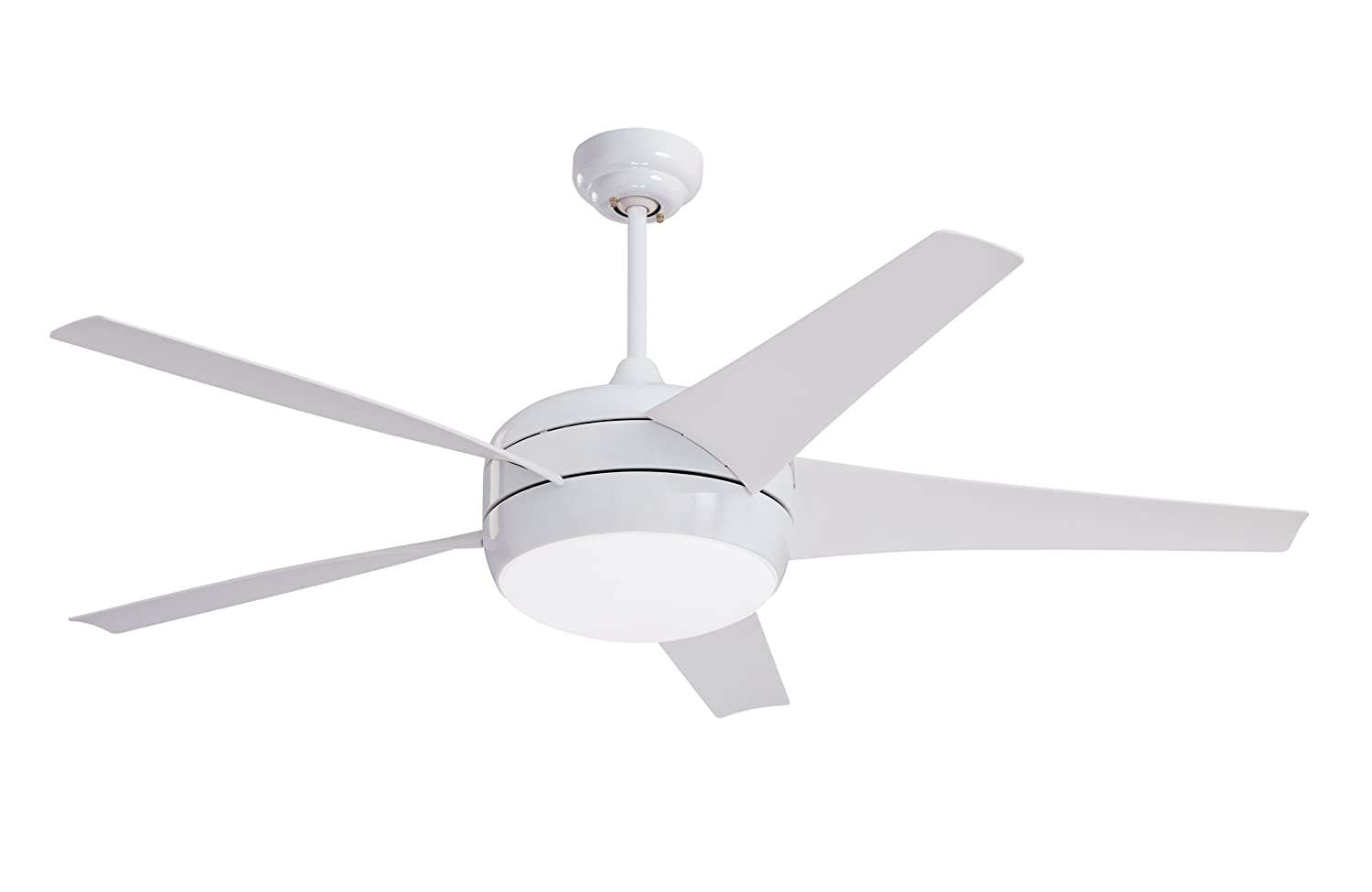 Emerson Ceiling Fans CF955WW Midway Eco Modern Energy Star Ceiling Fan With Light And Remote, 54-Inch Blades, Appliance White Finish