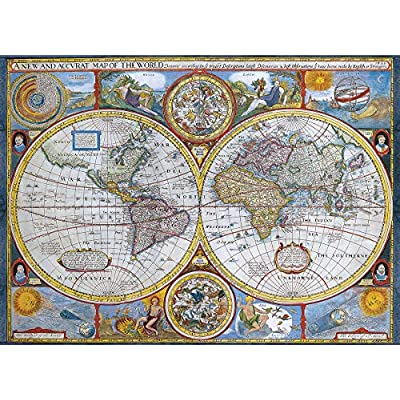 EuroGraphics New and Accurate Map of The World Puzzle (1000-Piece): Toys & Games