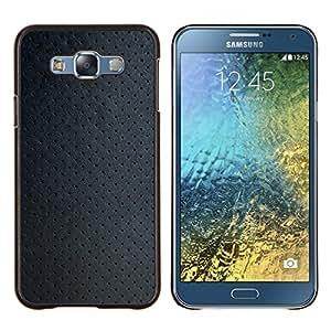 KLONGSHOP // Cubierta de piel con cierre a presión Shell trasero duro de goma Protección Caso - Papel pintado de la textura de la tela del modelo del art - Samsung Galaxy E7 E700 //
