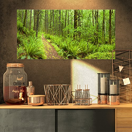 Lush Forest Path Columbia River Forest Canvas Wall Art Print -  Design Art, PT11137-32-16