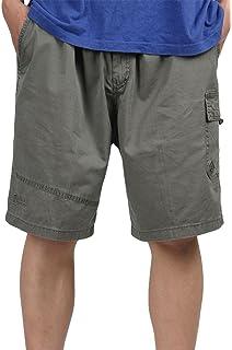 f01e1f9f9040 Heheja Herren Cargo Shorts Knielang Männer Vintage Kurze Hose Baumwolle  Bermuda