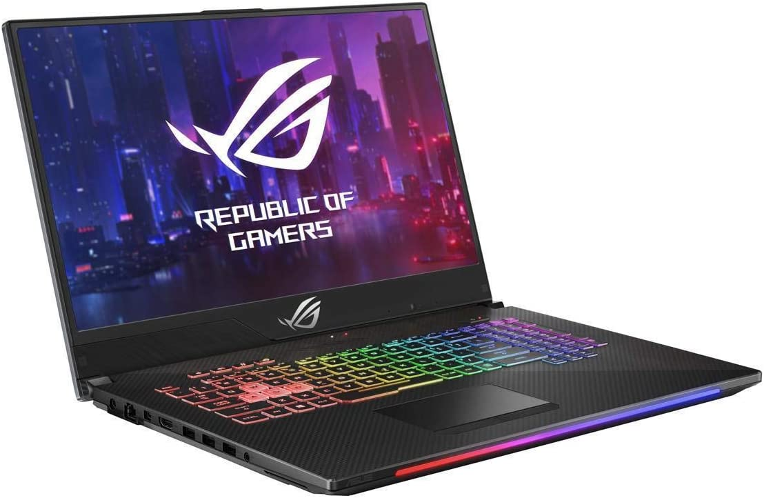 "ASUS ROG Strix Scar II GL704GW Gaming Laptop (Intel i7-8750H, 16GB RAM, 512GB Nvme SSD, NVIDIA RTX 2070 8GB, 17.3"" Full HD IPS 144Hz 3ms, Windows 10) Gamer Notebook Computer, 17-30.99"" (Renewed)"
