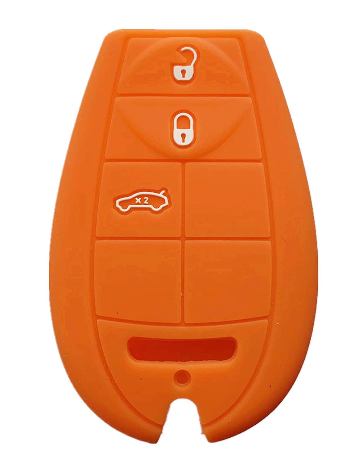 orange Rpkey Silicone Keyless Entry Remote Control Key Fob Cover Case protector For Chrysler 300 Dodge Challenger Charger Journey Magnum M3N5WY783X IYZ-C01C