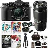 Fujifilm X-T2 Mirrorless Digital Camera with 18-55mm and 50-140mm f/2.8 R LM OIS WR Lens Bundle