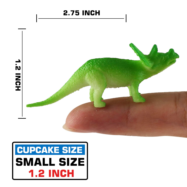 168 Pcs Mini Dinosaur Figure Toys Monoclonius Party Supplies etc Stegosaurus Realistic Plastic Dinosaur Set for Kids Children Toddler Learning Educational Goody Bag Including T-rex
