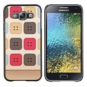 Stuss Case / Funda Carcasa protectora - Costura del patrón uniforme beige - Samsung Galaxy E5 E500